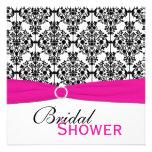 La ducha nupcial del damasco rosada, blanca, y anuncios personalizados