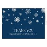 La ducha nupcial del invierno blanco azul le agrad felicitaciones