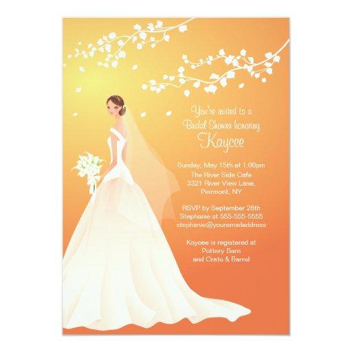 La ducha nupcial del otoño de la novia de moda del anuncio personalizado