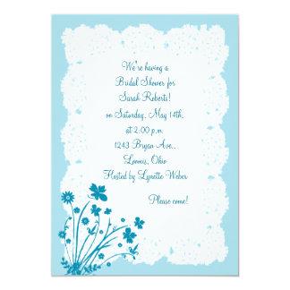 La ducha nupcial del tapetito floral del cordón de invitaciones personales