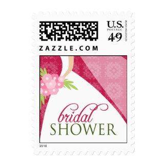 La ducha nupcial del vestido de boda invita a envio