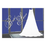La ducha nupcial del vestido de boda invita invitación personalizada
