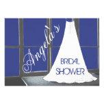 La ducha nupcial del vestido de boda invita anuncio personalizado