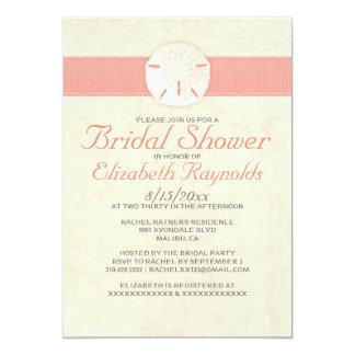 La ducha nupcial elegante del dólar de arena de la invitación 12,7 x 17,8 cm