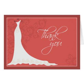 La ducha nupcial elegante del vestido de boda le a tarjeta