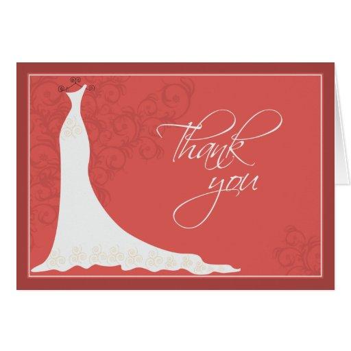 La ducha nupcial elegante del vestido de boda le a tarjeta pequeña