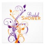 La ducha nupcial floral blanca anaranjada púrpura comunicados
