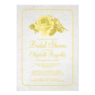 La ducha nupcial floral/de la flor rústica amarill