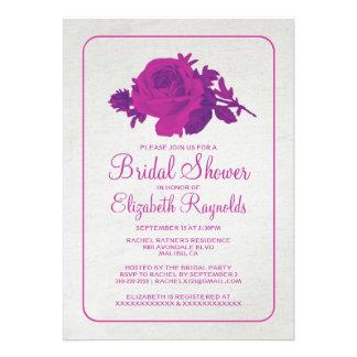 La ducha nupcial floral de la flor rústica fucsia