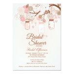 La ducha nupcial floral rosada elegante del tarro anuncio personalizado