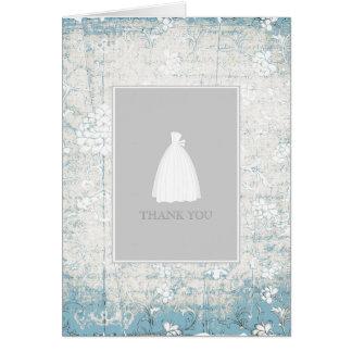 La ducha nupcial le agradece las tarjetas {azules}