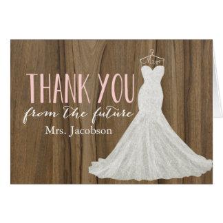 La ducha nupcial moderna del vestido de boda el | tarjeta pequeña