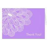 La ducha nupcial púrpura de la floración intrépida felicitación
