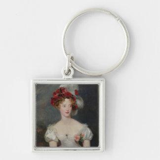 La Duchesse de Berry c.1825 Llavero Cuadrado Plateado