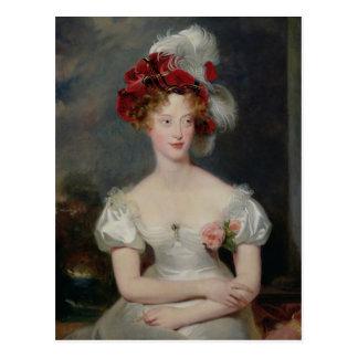 La Duchesse de Berry c.1825 Tarjeta Postal