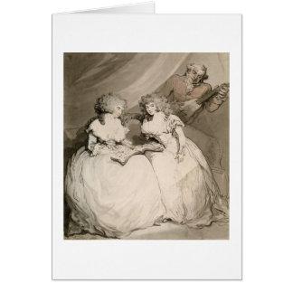 La duquesa de Devonshire y su hermana, el Coun Felicitaciones