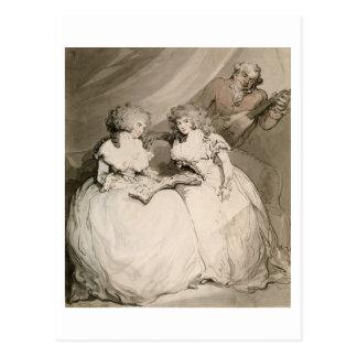La duquesa de Devonshire y su hermana, el Coun Tarjetas Postales