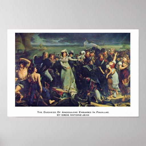 La duquesa Of Angulema se embarca en Pauillac Poster