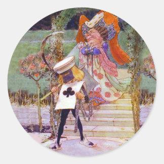 La duquesa y el verdugo etiqueta redonda