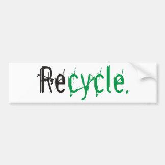 ¡La ecología y recicla productos y diseños! Pegatina Para Auto
