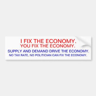La economía etiqueta de parachoque
