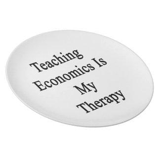 La economía de enseñanza es mi terapia platos de comidas