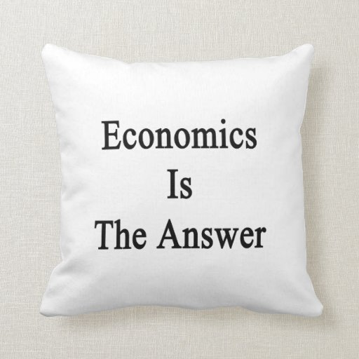 La economía es la respuesta almohada