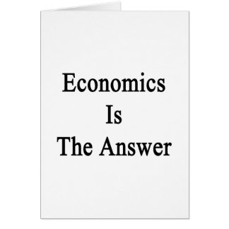 La economía es la respuesta tarjeta pequeña