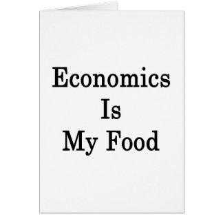 La economía es mi comida tarjeta de felicitación