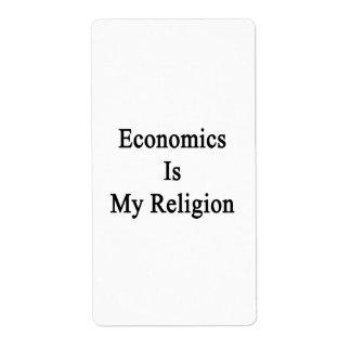 La economía es mi religión etiquetas de envío