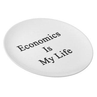 La economía es mi vida plato de cena