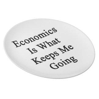 La economía es qué me guarda el ir plato