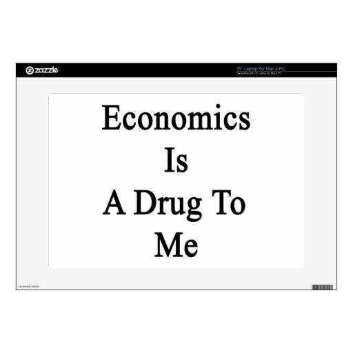 La economía es una droga a mí calcomanías para portátiles