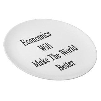 La economía hará el mundo mejor plato