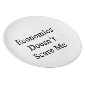 La economía no me asusta plato de comida