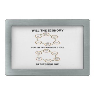 La economía seguirá el ciclo virtuoso vicioso hebillas de cinturón