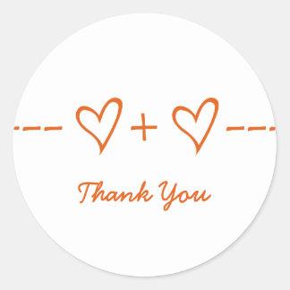 La ecuación anaranjada del corazón le agradece los