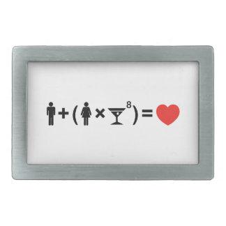 La ecuación del amor para las mujeres hebillas cinturón rectangulares