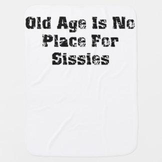 La edad avanzada no es ningún lugar para las mariq mantitas para bebé