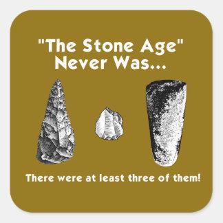 """""""La Edad de Piedra"""" nunca estaba… Pegatinas Colcomanias Cuadradas"""