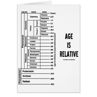 La edad es relativa (el humor del tiempo geológico felicitacion