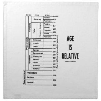 La edad es relativa (la carta de tiempo geológico) servilletas de papel