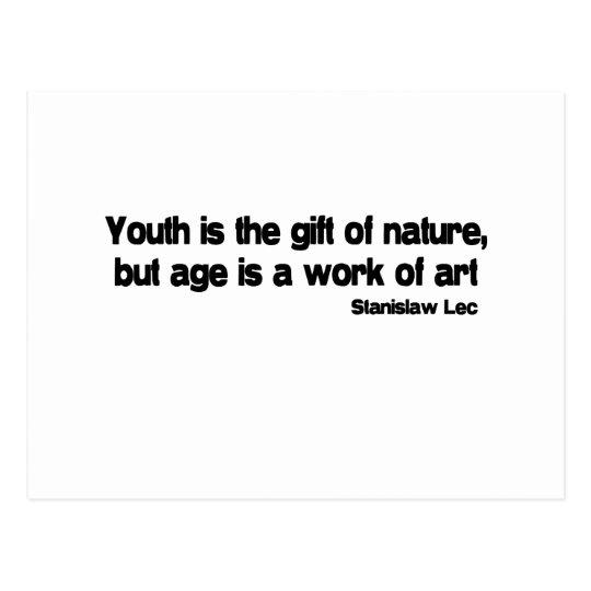 La edad es una obra de arte la cita tarjetas postales