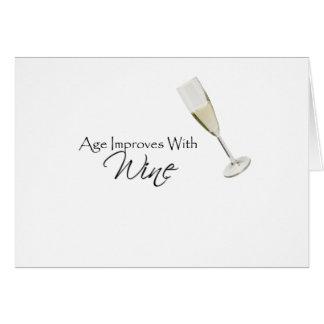 La edad mejora con el vino felicitacion