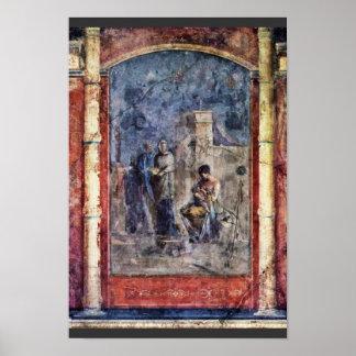 La educación de Dionysus de Römischer Meister Posters
