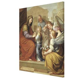 La educación de la Virgen, 1658 Impresión En Lienzo