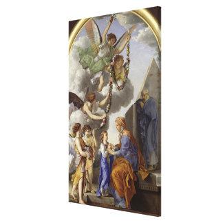 La educación de la Virgen Impresión En Lienzo