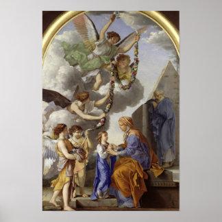 La educación de la Virgen Póster