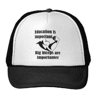 La educación es bíceps grande importante es gorras