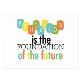 La educación es la fundación tarjetas postales